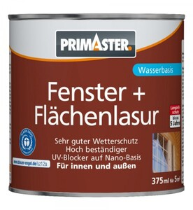 Primaster Fenster- und Flächenlasur 375 ml, farblos