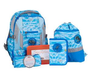 SCHOOL-MOOD®-Schulrucksack-Set Loop Air, 8-teilig, »Lisa«