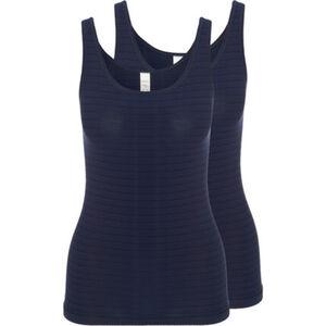 Speidel Achselhemd, breite Träger, Ringelstruktur, uni, für Damen