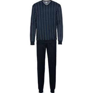 Calida Pyjama, Langarm, V-Ausschnitt, Streifen, für Herren