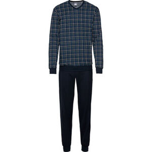 Calida Pyjama, Langarm, V-Ausschnitt, Karo, für Herren