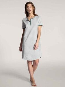 Calida Damen Kurzarm-Sleepshirt, Länge 95cm, Late Summer Dreams