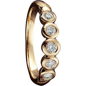 Moncara Damen Ring, 585er Gelbgold mit Diamanten