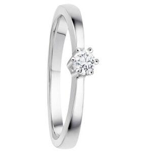 Moncara Damen Ring, 375er Weißgold mit Diamant