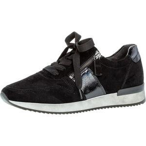 Gabor Sneaker, Rauleder, Reißverschluss, Lackdetails, für Damen