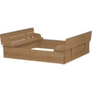 roba Sandkasten mit aufklappbare Sitzbank braun
