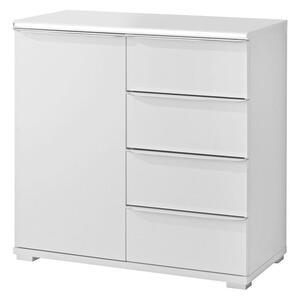 Moderano Kommode weiß , Delta , Holzwerkstoff , 1 Fächer , 4 Schubladen , 80x80x40 cm , Nachbildung , Typenauswahl, stehend, in verschiedenen Größen erhältlich,Typenauswahl, stehend, in verschie