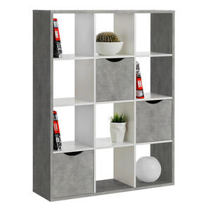 Carryhome Raumteiler grau, weiß , Quadro -Sc- , 110x146x34 cm , Nachbildung , 000887021401