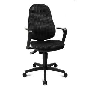 Xora Drehstuhl schwarz , Point 25 , Kunststoff, Textil , 47x98x46 cm , 001319004901
