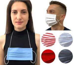 Behelfs - Mund Nasen Maske Gesichtsmaske waschbar & wiederverwendbar Baumwolle grau Gr. one size