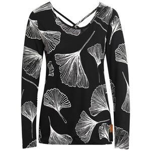 Damen Langarmshirt mit Allover-Motiv