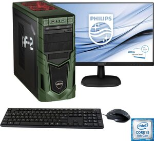 Hyrican »Military Gaming 6481 + Philips 273V7Q« PC-Komplettsystem (27 Zoll, Intel Core i5, GeForce, 16 GB RAM, 1000 GB HDD, 480 GB SSD, inkl. Office-Anwendersoftware Microsoft 365 Single im Wert vo