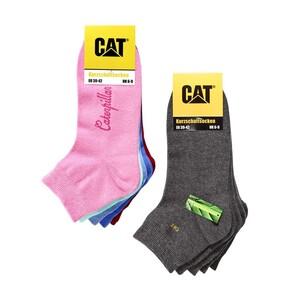 CAT Damen- oder Herren-Kurzschaftsocken Größe: 35/38 - 43/46, 5er-Pack je