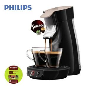 Kaffee-Padautomat HD 6562/32  Viva Café Eco · für 1-2 Tassen/Becher · Crema Plus für eine samtige Crema · Kaffee Boost für intensiveren Geschmack · Abschaltautomatik nach 5 min