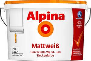 ALPINA  Wandfarbe Mattweiß