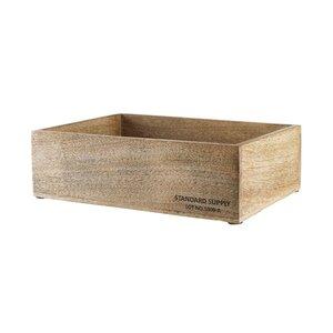 STANDARD SUPPLY Holzkasten rechteckig L 32 x B 24cm
