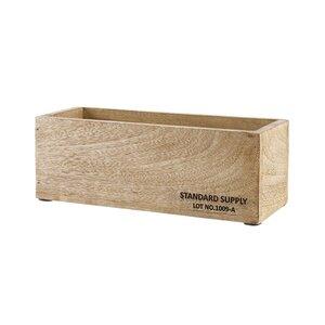 STANDARD SUPPLY Holzkasten hochkant L 28 x B 11cm