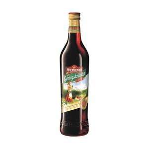 Wilthener Gebirgskräuterlikör 30 % Vol.,  jede 0,7-l-Flasche
