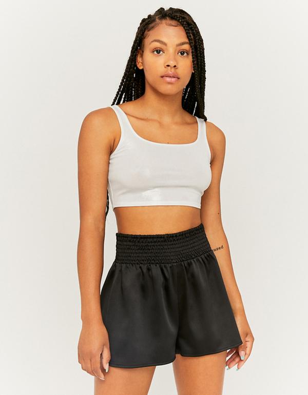 Schwarze leichte Denim Shorts