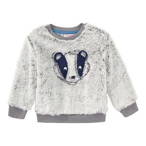 Baby-Jungen-Sweatshirt mit Dachs-Applikation