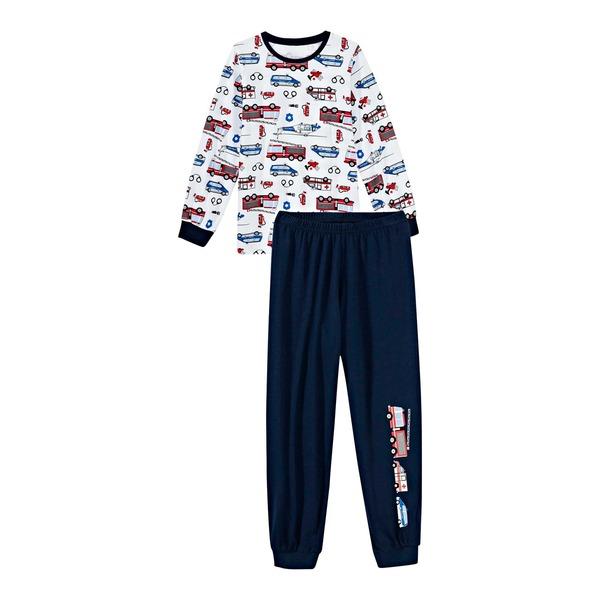 Jungen-Schlafanzug mit Fahrzeug-Muster, 2-teilig