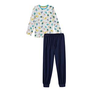Jungen-Schlafanzug mit Monster-Muster, 2-teilig