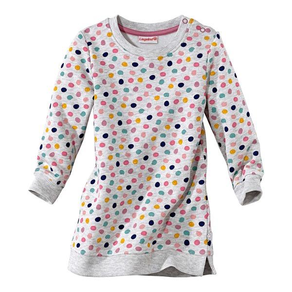 Baby-Mädchen-Sweatkleid mit bunten Pünktchen