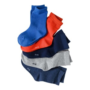 Kinder-Socken in verschiedenen Farbvariationen, 5er Pack