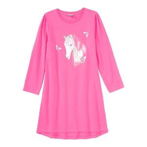Mädchen-Nachthemd mit Pferde-Aufdruck