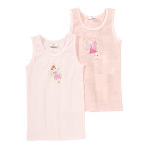 Mädchen-Unterhemd mit Feenmotiv, 2er Pack