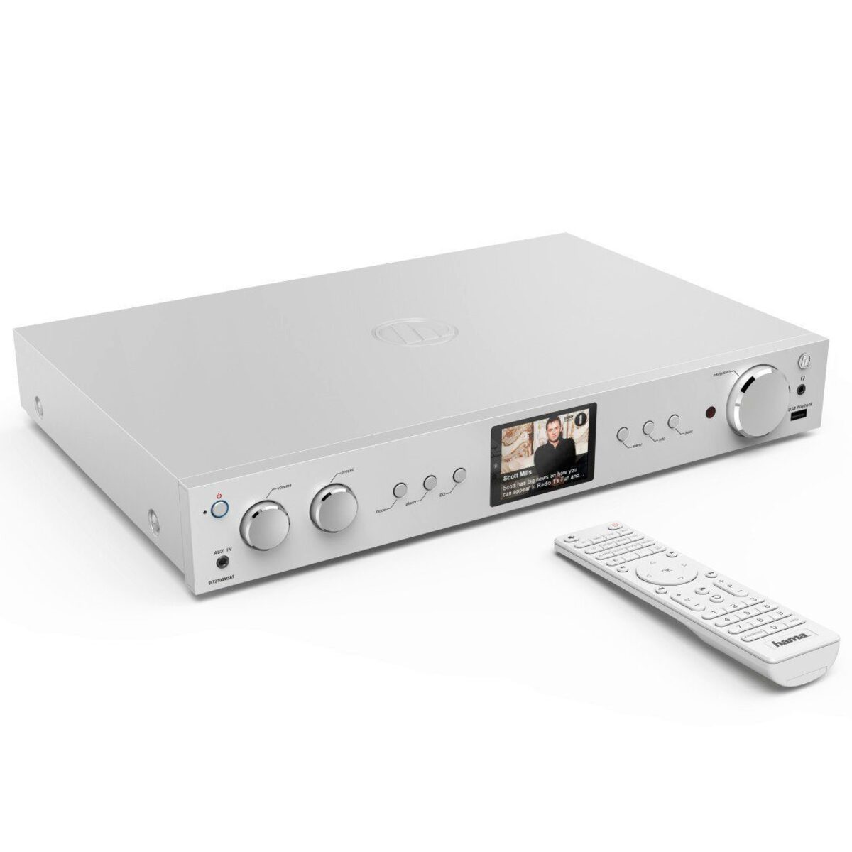 Bild 2 von Hama Digitaltuner, DAB+ Digitalradio/Internetradio/Bluetooth/USB »Aux/DIT2100MSBT«