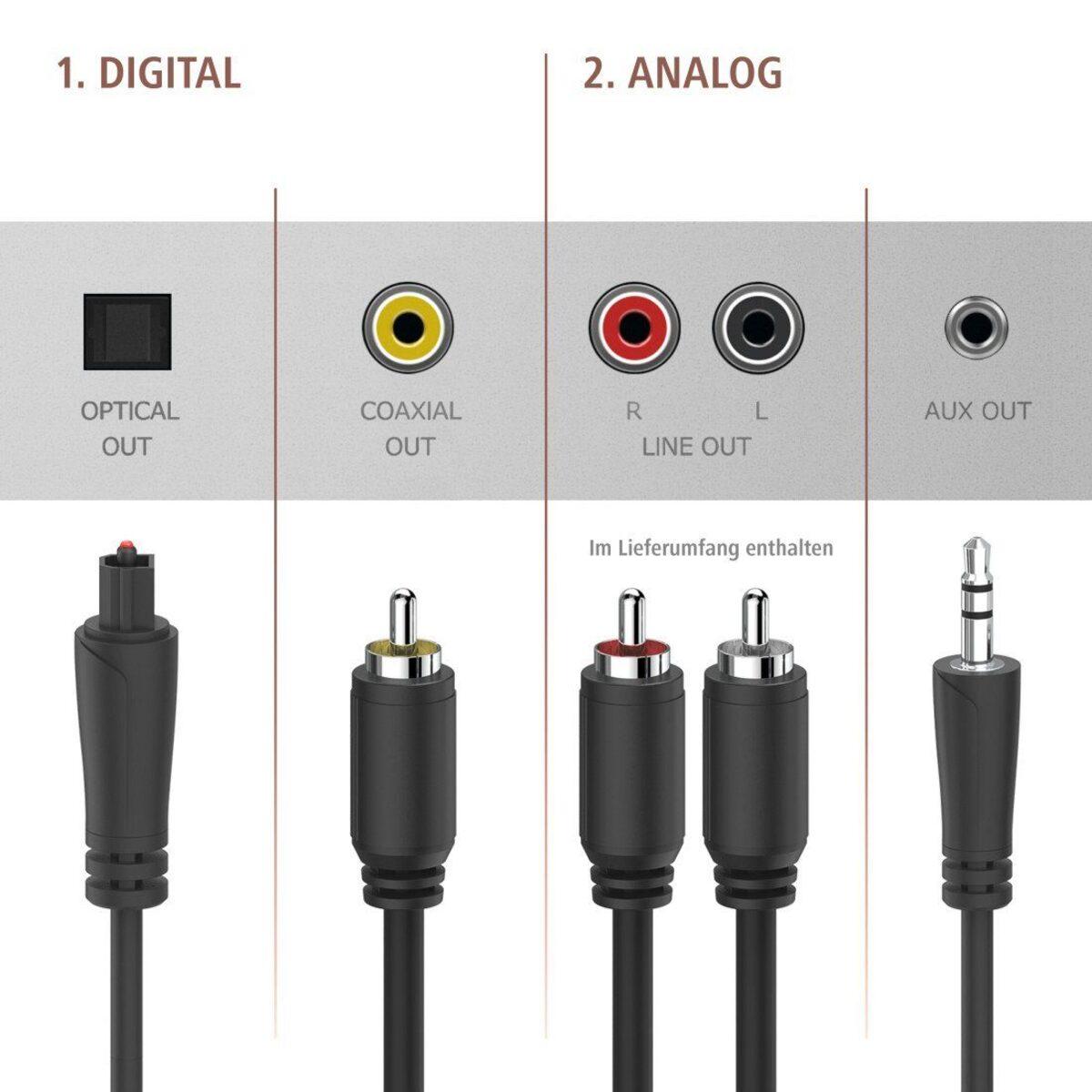 Bild 4 von Hama Digitaltuner, DAB+ Digitalradio/Internetradio/Bluetooth/USB »Aux/DIT2100MSBT«