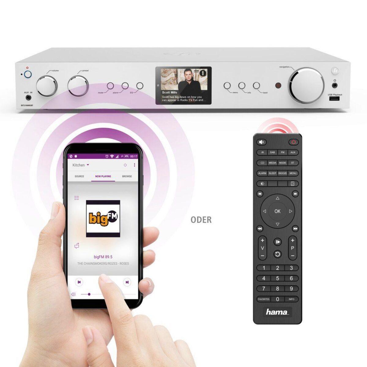Bild 5 von Hama Digitaltuner, DAB+ Digitalradio/Internetradio/Bluetooth/USB »Aux/DIT2100MSBT«
