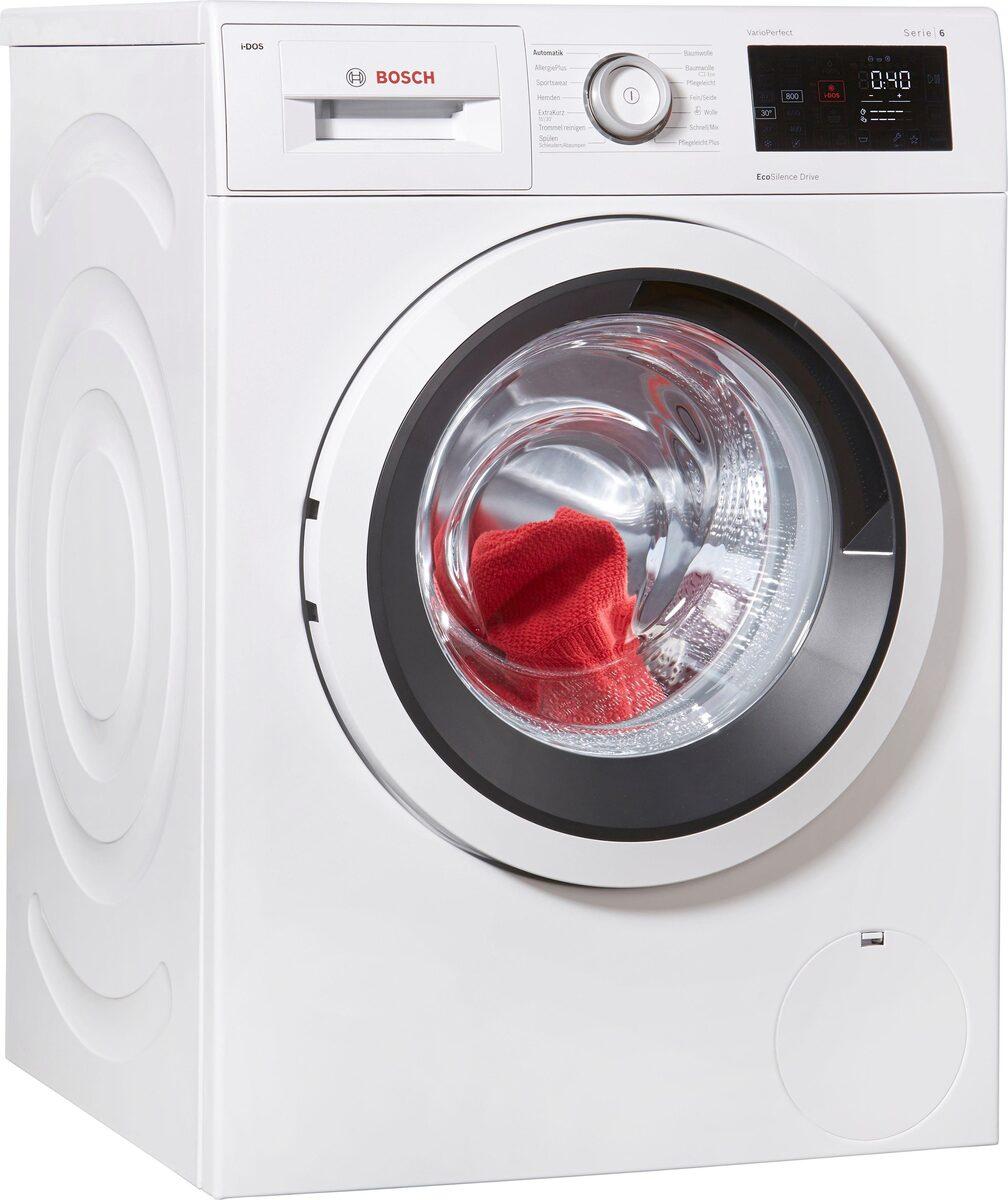 Bild 1 von BOSCH Waschmaschine Serie 6 WAT286V0, 8 kg, 1400 U/Min, i-Dos Dosierautomatik