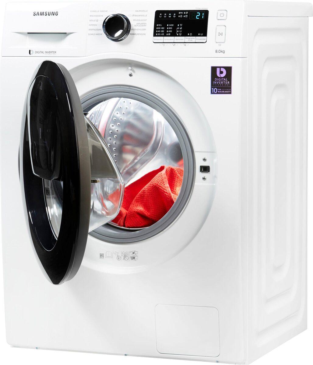 Bild 2 von Samsung Waschmaschine AddWash WW4500 WW8EK44205W, 8 kg, 1400 U/Min, AddWash