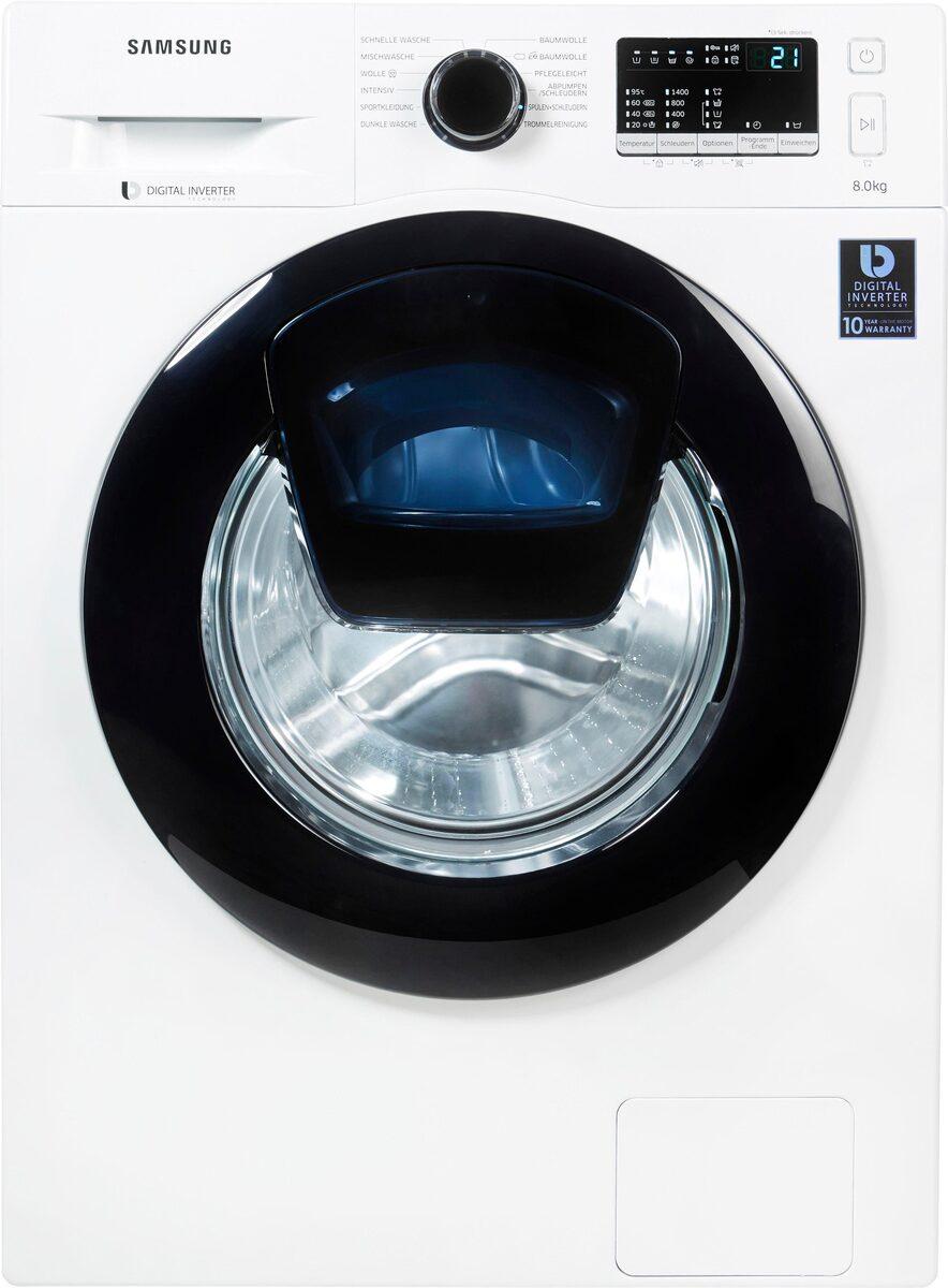 Bild 3 von Samsung Waschmaschine AddWash WW4500 WW8EK44205W, 8 kg, 1400 U/Min, AddWash