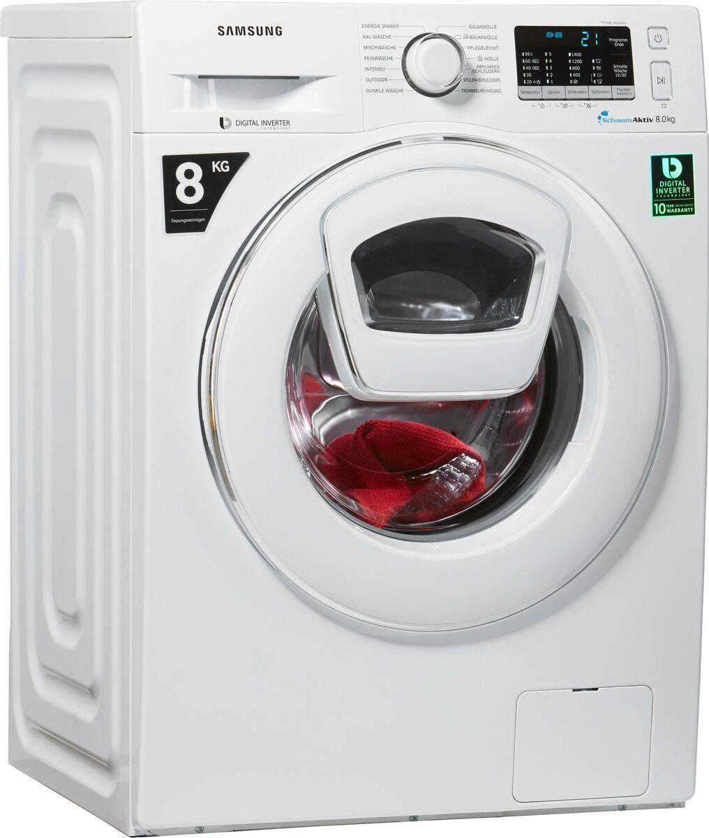 Bild 1 von Samsung Waschmaschine AddWash WW5500 WW80K5400WW, 8 kg, 1400 U/Min, AddWash & FleckenIntensiv