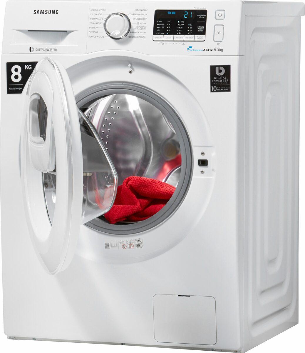 Bild 2 von Samsung Waschmaschine AddWash WW5500 WW80K5400WW, 8 kg, 1400 U/Min, AddWash & FleckenIntensiv