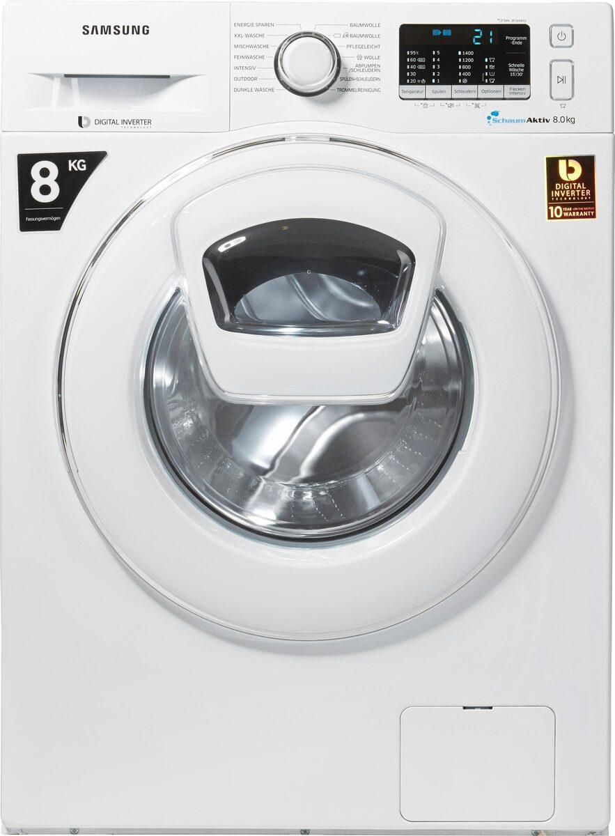 Bild 3 von Samsung Waschmaschine AddWash WW5500 WW80K5400WW, 8 kg, 1400 U/Min, AddWash & FleckenIntensiv