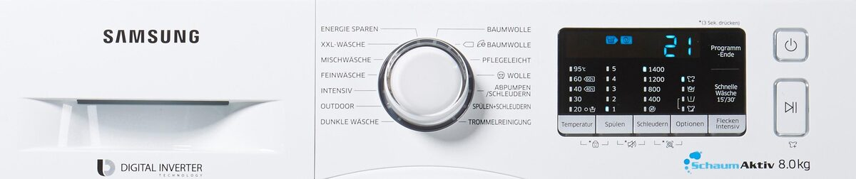 Bild 5 von Samsung Waschmaschine AddWash WW5500 WW80K5400WW, 8 kg, 1400 U/Min, AddWash & FleckenIntensiv