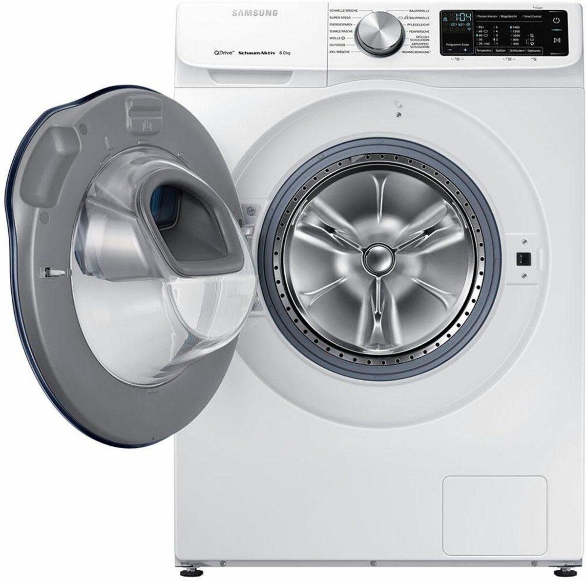 Bild 2 von Samsung Waschmaschine QuickDrive AddWash WW6800 WW8EM642OPW, 8 kg, 1400 U/Min, QuickDrive & WiFi-Steuerung