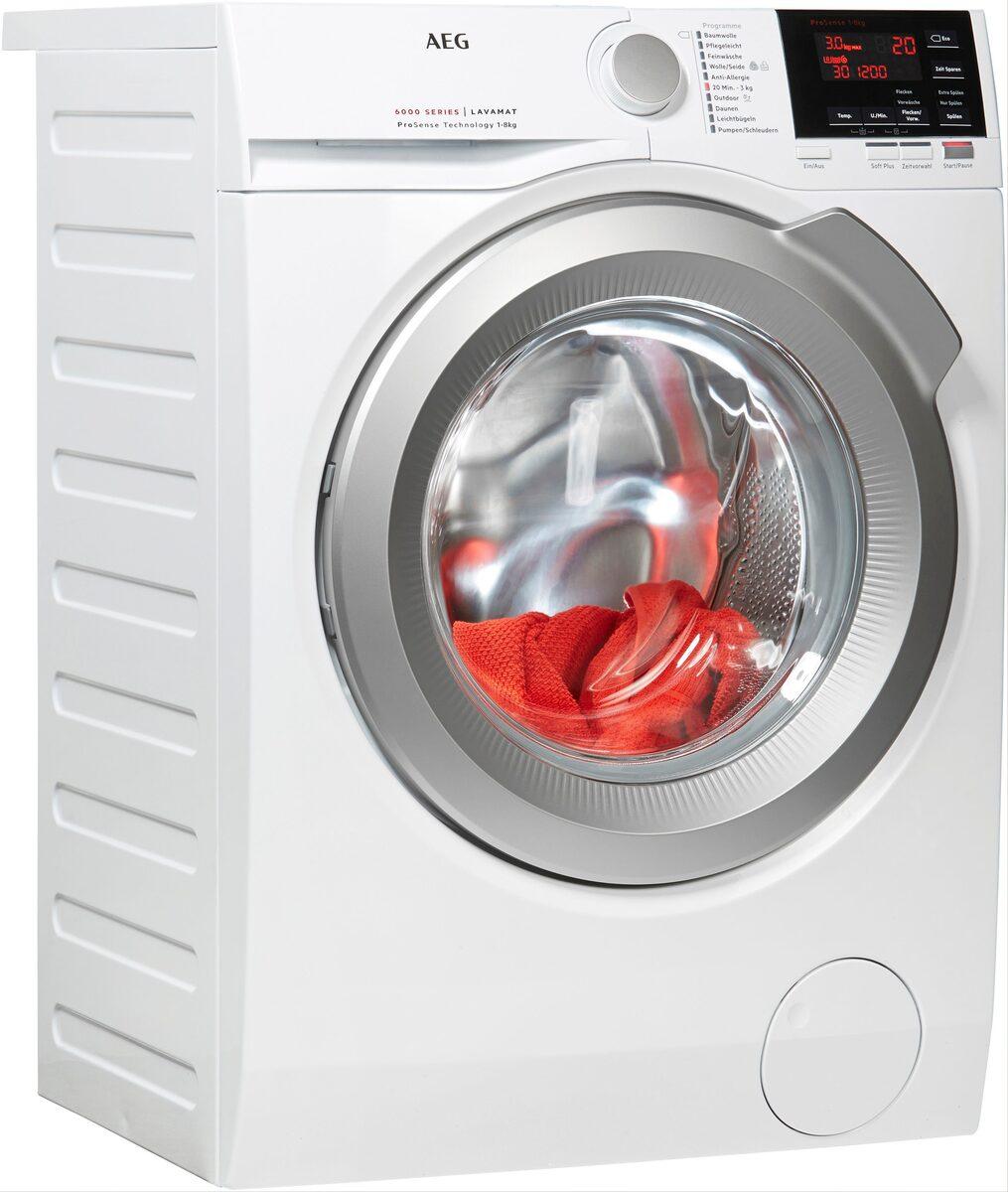 Bild 1 von AEG Waschmaschine 6000 L6FBA68, 8 kg, 1600 U/Min, ProSense - Mengenautomatik