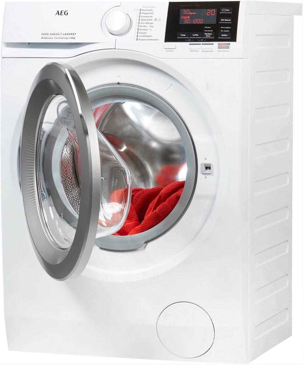 Bild 2 von AEG Waschmaschine 6000 L6FBA68, 8 kg, 1600 U/Min, ProSense - Mengenautomatik