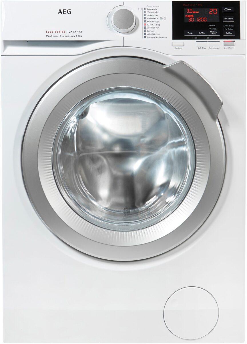 Bild 3 von AEG Waschmaschine 6000 L6FBA68, 8 kg, 1600 U/Min, ProSense - Mengenautomatik