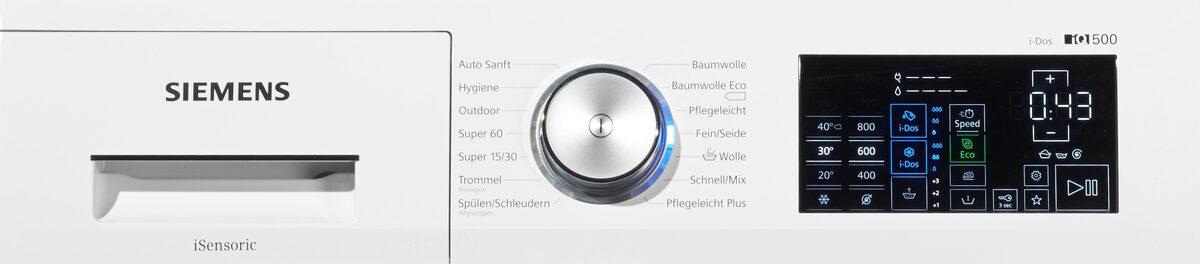 Bild 5 von SIEMENS Waschmaschine iQ500 WM14T641, 8 kg, 1400 U/Min, i-Dos Dosierautomatik