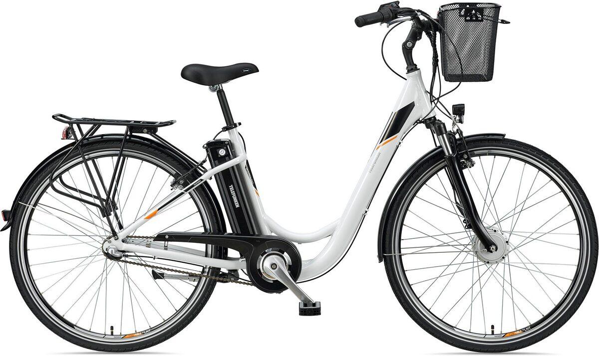 Bild 1 von Telefunken E-Bike »Multitalent RC830«, 3 Gang Shimano Nexus Schaltwerk, Frontmotor 250 W, mit Fahrradkorb