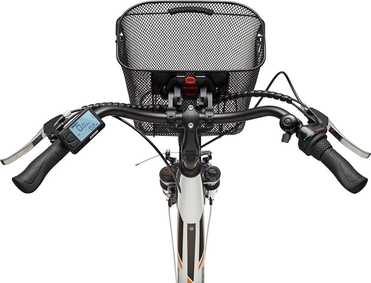 Bild 2 von Telefunken E-Bike »Multitalent RC830«, 3 Gang Shimano Nexus Schaltwerk, Frontmotor 250 W, mit Fahrradkorb
