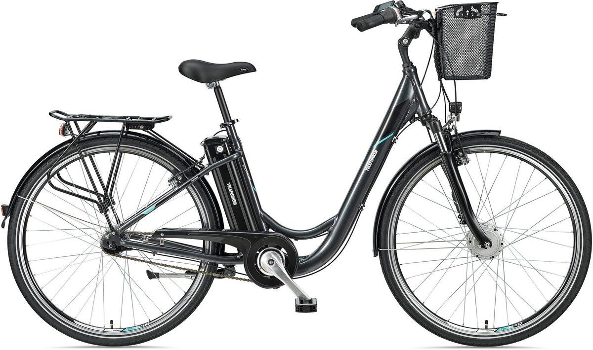 Bild 1 von Telefunken E-Bike »Multitalent RC840«, 7 Gang Shimano Nexus Schaltwerk, Frontmotor 250 W, mit Fahrradkorb