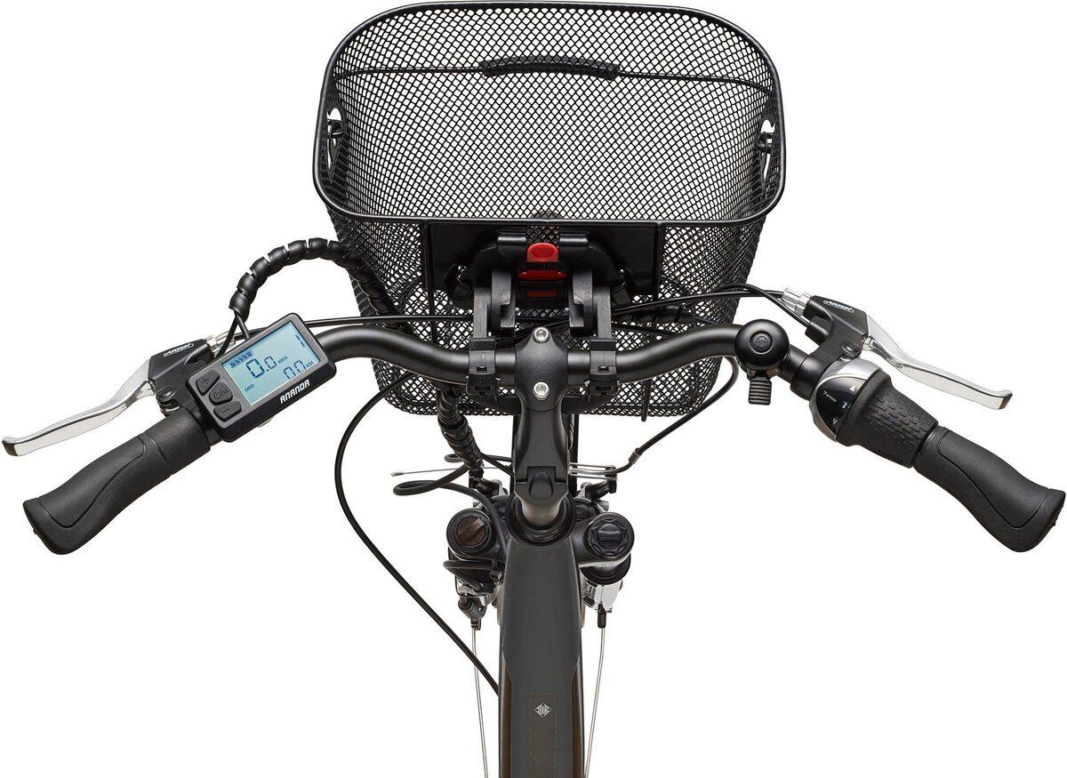 Bild 2 von Telefunken E-Bike »Multitalent RC840«, 7 Gang Shimano Nexus Schaltwerk, Frontmotor 250 W, mit Fahrradkorb