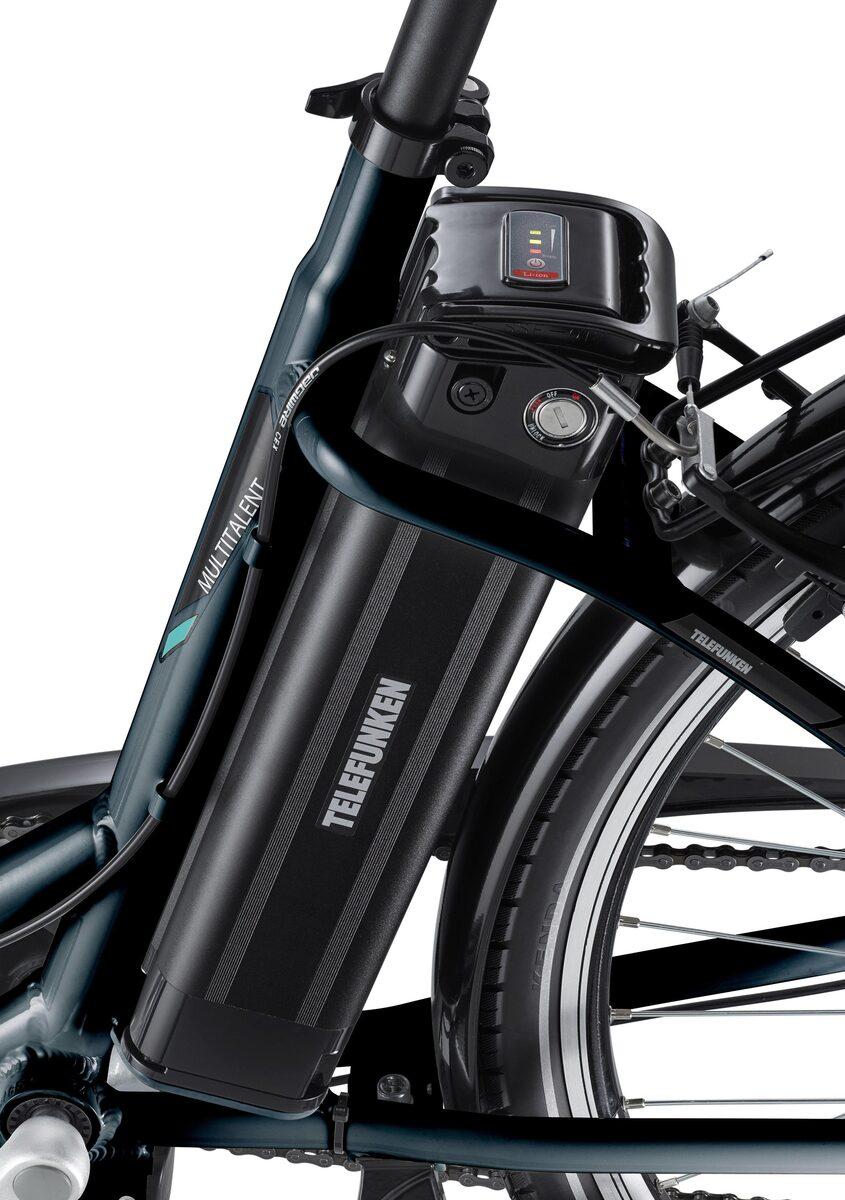 Bild 3 von Telefunken E-Bike »Multitalent RC840«, 7 Gang Shimano Nexus Schaltwerk, Frontmotor 250 W, mit Fahrradkorb